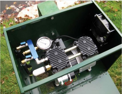 Post Mounted Lockable Enclosed Aeration Cabinet 2