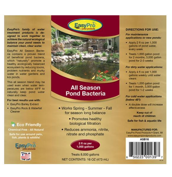 ASB16 All Season Liquid Bacteria – 16 oz (1 pint)