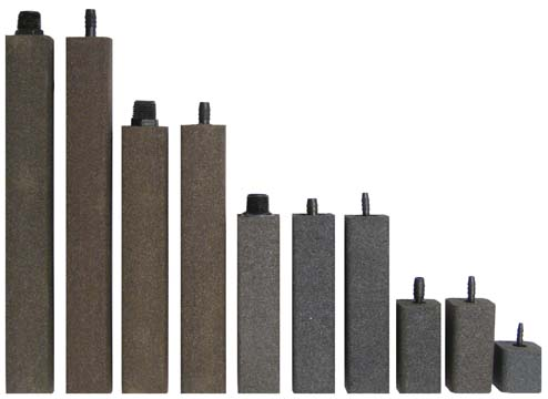 "AS950 Alumina Airstone – 1 1/2"" X 1 1/2"" X 9"" – 1/2"" NPT"