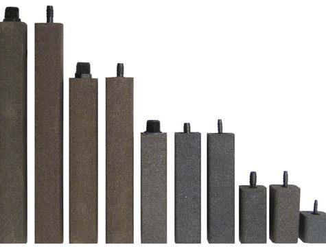 "AS325 Alumina Airstone – 1 1/2"" X 1 1/2"" X 3"" – 1/4"" barb"