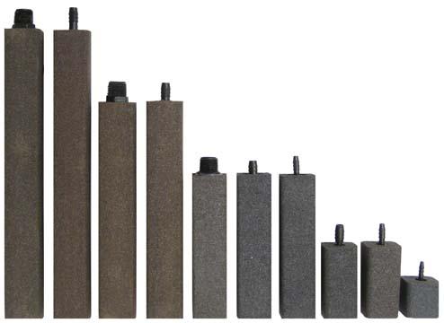 "AS1250 Alumina Airstone – 1 1/2"" X 1 1/2"" X 12"" – 1/2"" NPT"