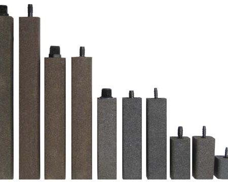 "AS625 Alumina Airstone – 1 1/2"" X 1 1/2"" X 6"" – 1/4"" barb"