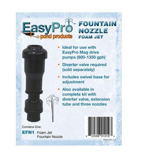 EFN1 Mag Drive Fountain Head – Foam Jet Nozzle