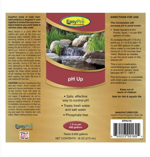 EPHU16 pH Up – 16oz. (1 pint)