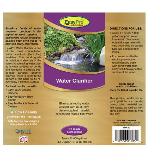 EWC32 Water Clarifier (flocculant) – 32 oz. (1 quart)