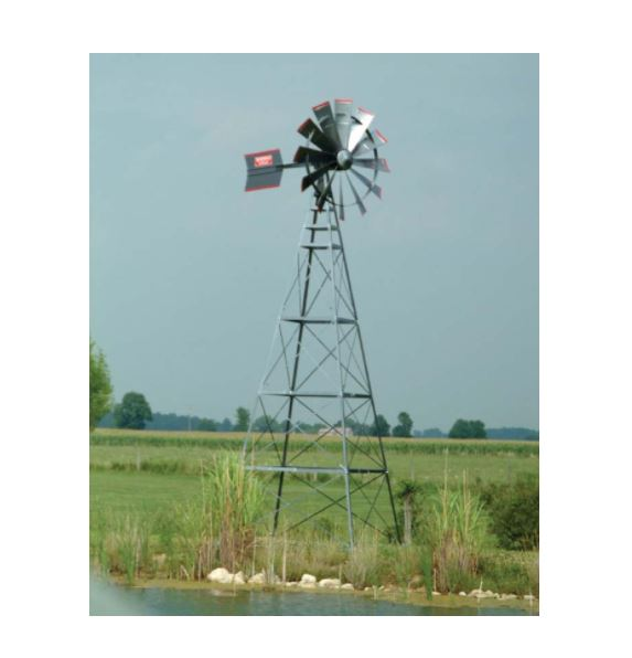 FLW20W 20′ Four Legged Windmill Assembly with Quick Sink Tubing