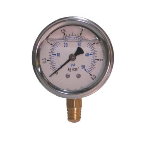 "0-50 PSI liquid filled gauge 1/4"" npt"
