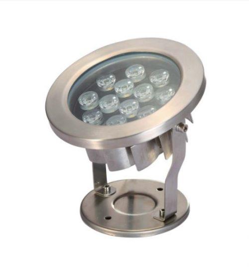 12 watt LED Submersible Stainless Steel fixture - Warm White