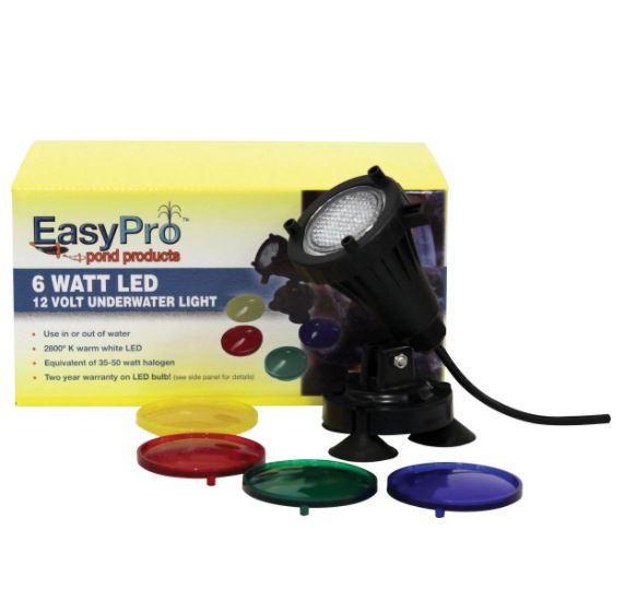 LED6WPK Two 6 Watt Underwater LED Lights with Transformer