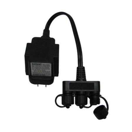 MT10 10 Watt Transformer – 120 volt to 12 volt – with 3 way splitter