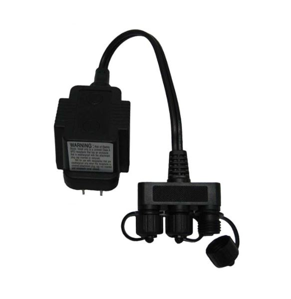 MT10 10 Watt Transformer – 120 volt to 12 volt – with 3 way splitter