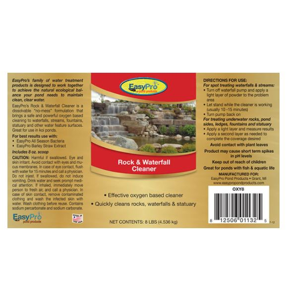 OXY8 Rock & Waterfall Cleaner – 8lbs