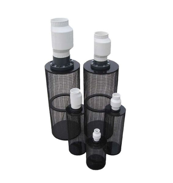 "PIF2 18"" Long / 11"" Diameter Centrifugal Pump Intake Filter – for 2"" Pipe"