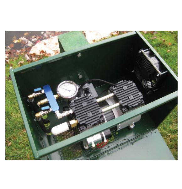 "SC18 Post Mounted Lockable Cabinet – 11.5""W x 18""L x 11.5""H"