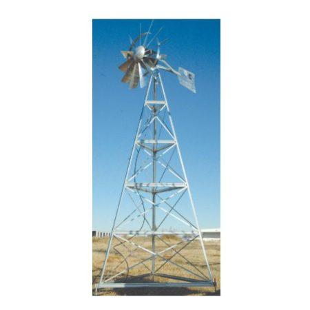 WM12W 12′ Three-legged windmill assembly with Quick Sink Tubing