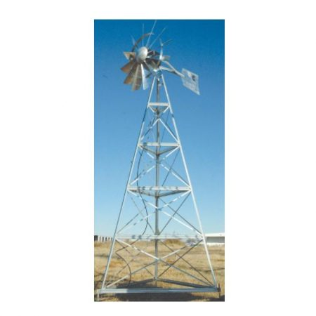 WM12P 12′ Three-legged windmill assembly with Poly Tubing